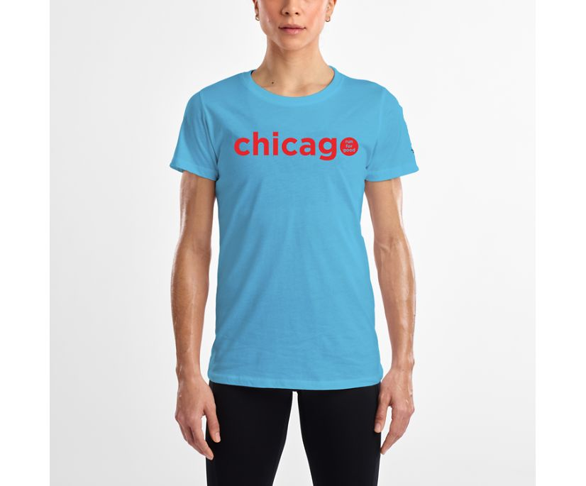 Chicago Tee, Aqua, dynamic