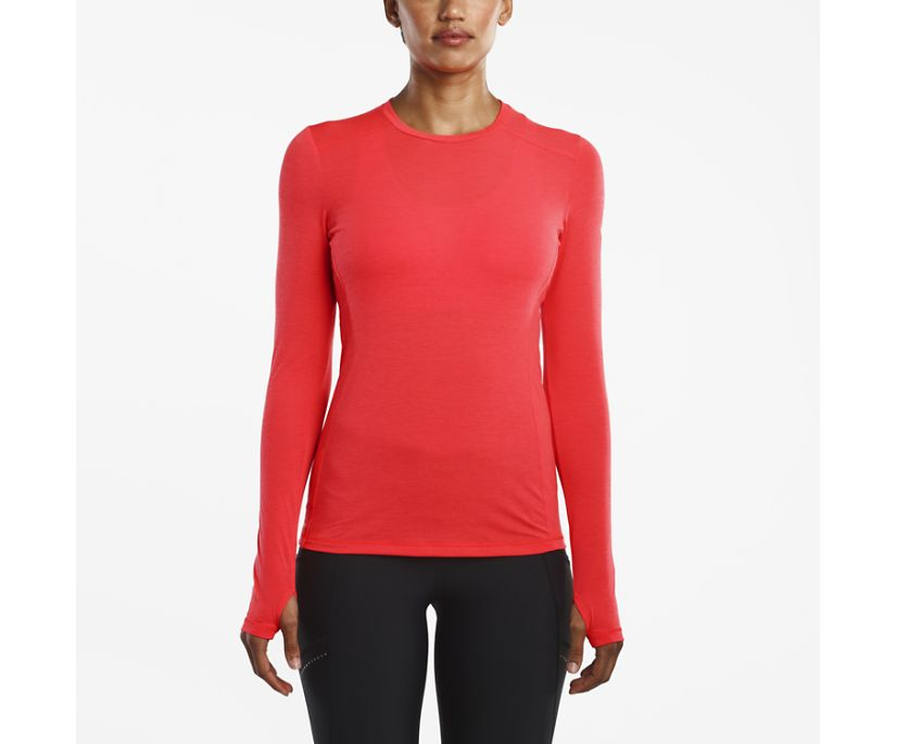 Freedom Long Sleeve Crew, ViZi Red, dynamic