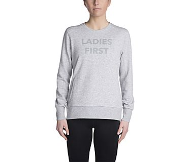 Ladies First Sweatshirt, Heather Grey, dynamic