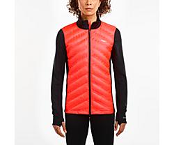 Bonded Baffle Hybrid Jacket, Black | ViZi Red, dynamic