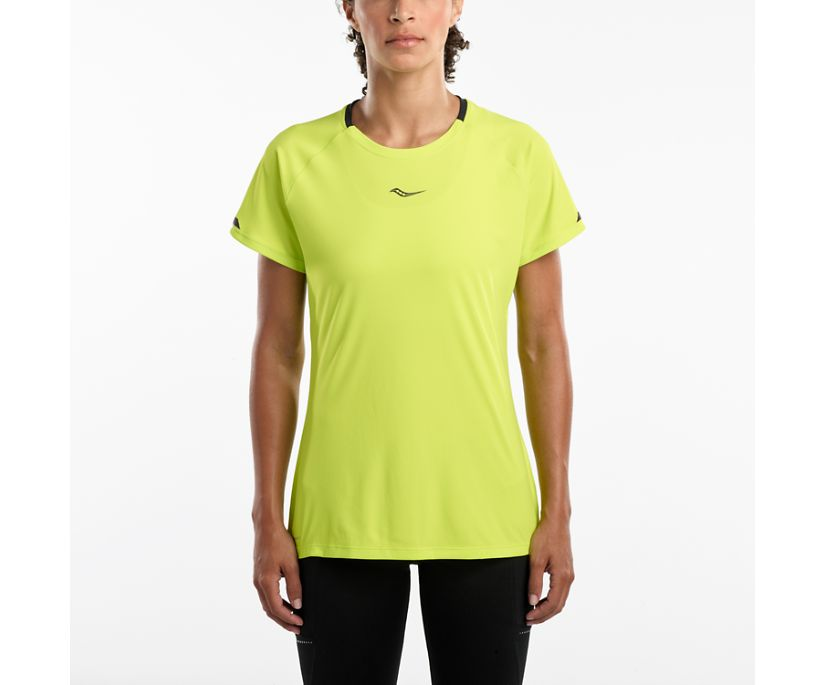 UV Lite Short Sleeve, Lime Punch, dynamic