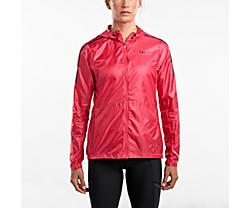 Pack-It Run Jacket, Hibiscus, dynamic