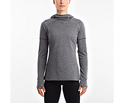 Runstrong Thermal Hoodie, Dark Grey Heather, dynamic