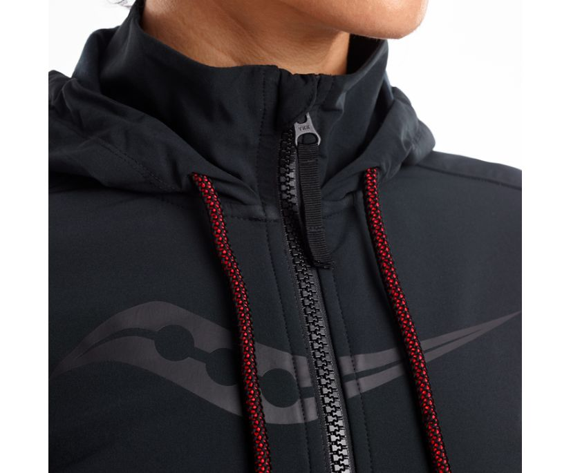 Cooldown Jacket, Dark Grey Heather   Black, dynamic
