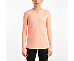 Breakthru Long Sleeve, Peach Nectar, dynamic