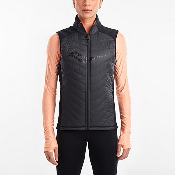Reversi-Run Vest, Black | ViZi Red, dynamic