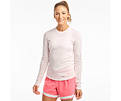 Stopwatch Long Sleeve, Barely Pink, dynamic