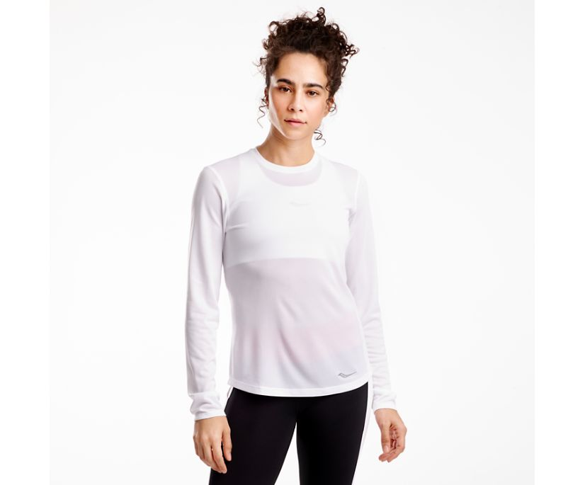 Stopwatch Long Sleeve, White, dynamic