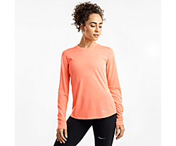 Stopwatch Long Sleeve, Fusion Coral, dynamic