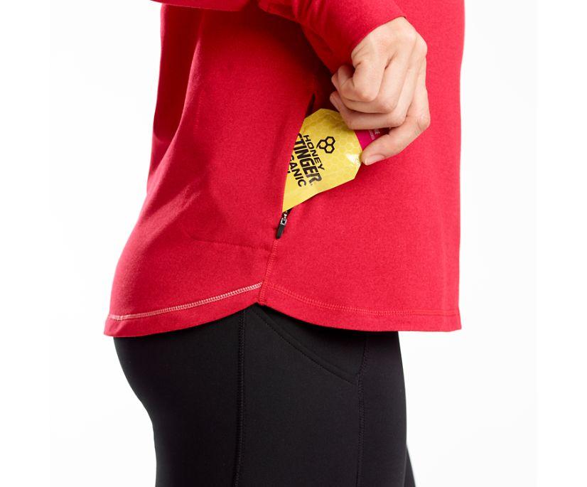 Challenge Quarter Zip, Saucony Red Heather, dynamic