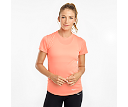 Stopwatch Short Sleeve, Fusion Coral, dynamic