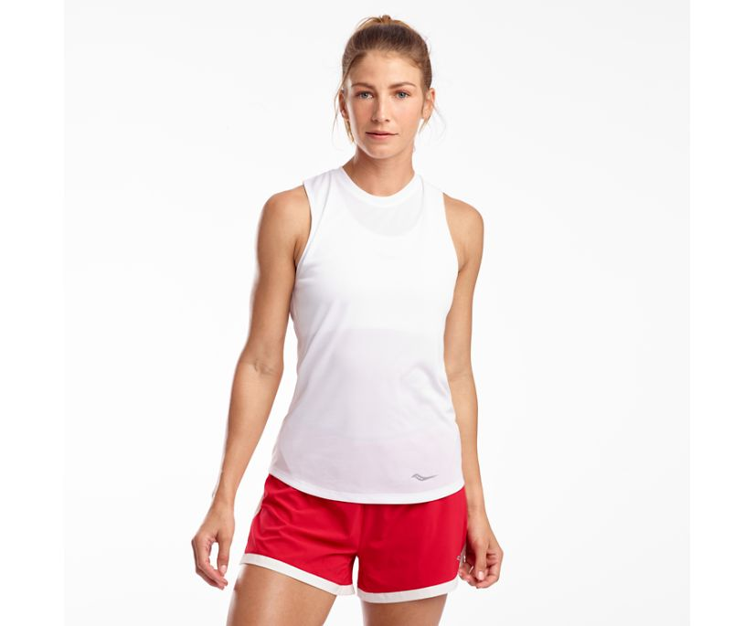 Stopwatch Sleeveless, White, dynamic
