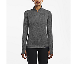 1/4 Zip Sportop, Dark Grey Heather, dynamic