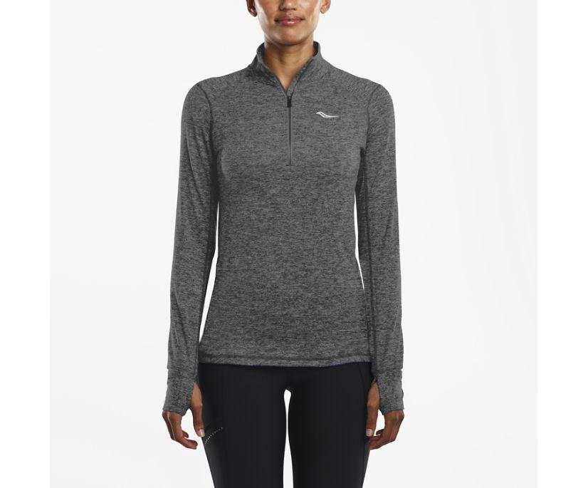 1/4 Zip Sportop, Dark Grey Heather, dynamic