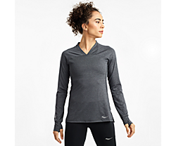 Overlook Long Sleeve, Black Heather, dynamic