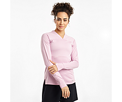 Overlook Long Sleeve, Dawn Pink Heather, dynamic