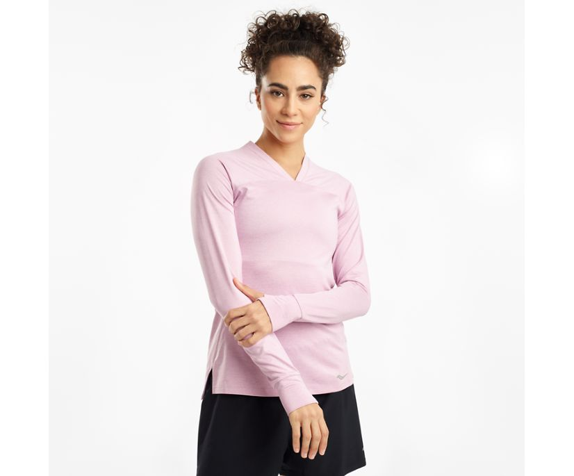Overlook Long Sleeve, Dawn Pink Heather, dynamic