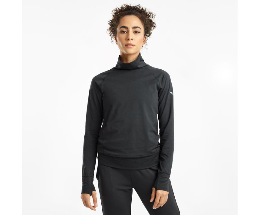 Sunday Funnel Neck, Black Heather, dynamic