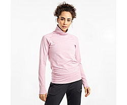 Sunday Funnel Neck, Dawn Pink Heather, dynamic