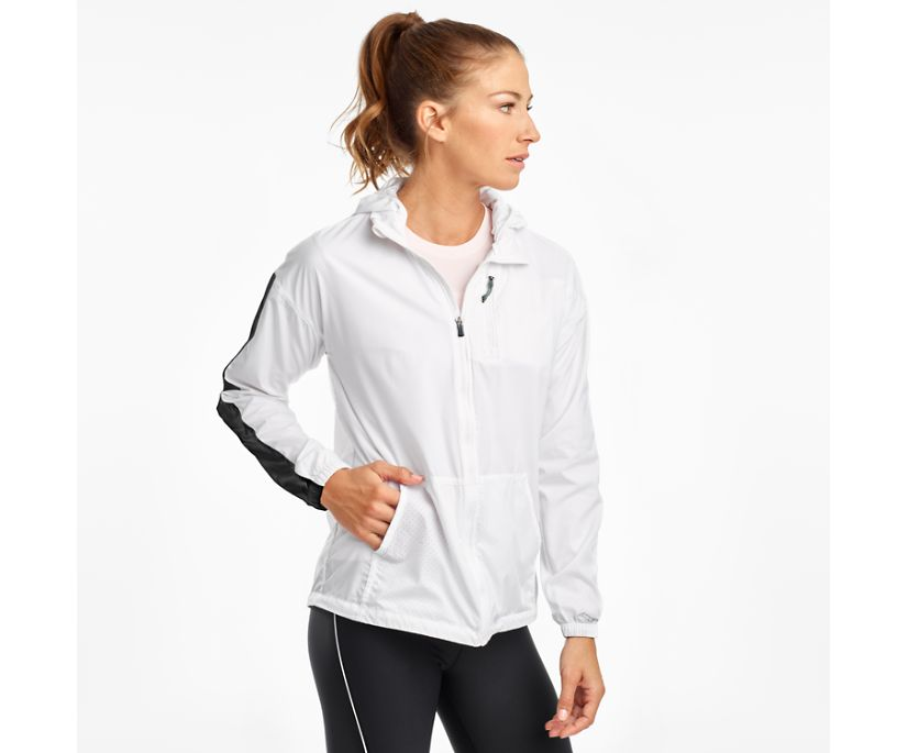 Packaway Jacket, White, dynamic