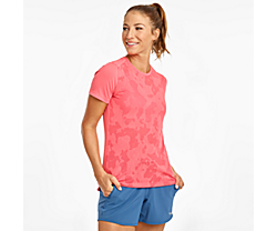 Ramble Short Sleeve, Calypso Coral, dynamic