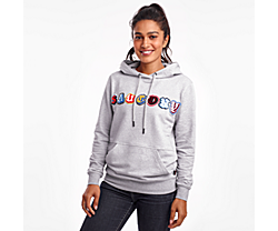 Rested Hoodie, Light Grey Heather Print, dynamic