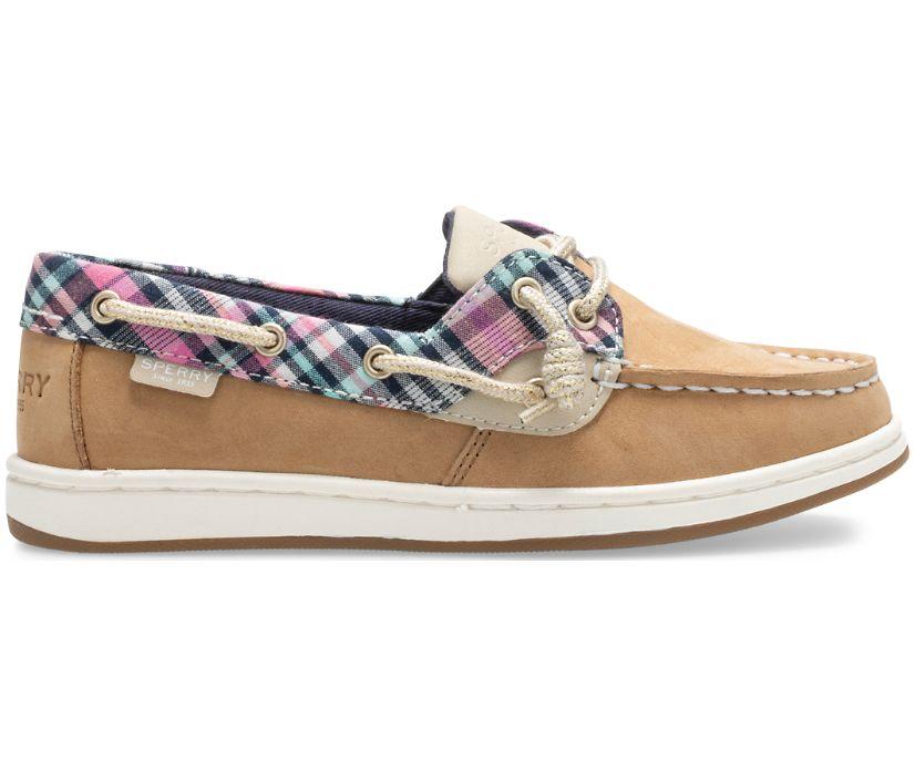 Coastfish Boat Shoe, Linen Oat/Plaid, dynamic