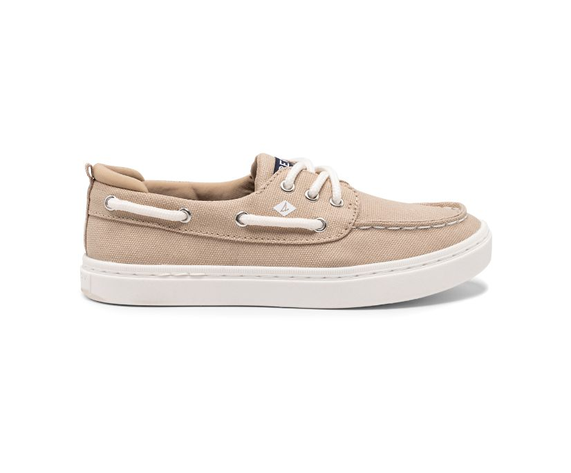 Sea Ketch Washable Boat Shoe, Kahki, dynamic
