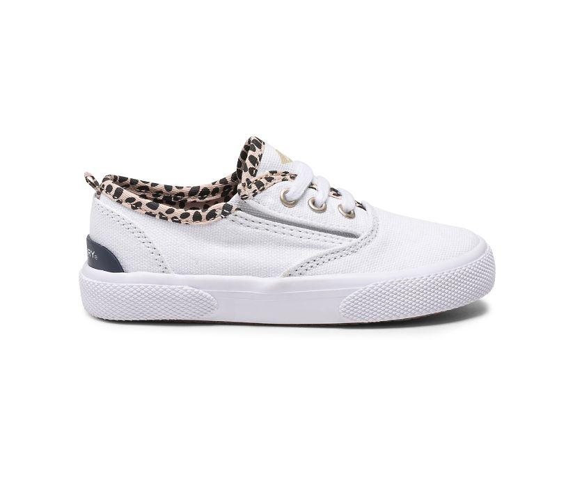 Pier Wave CVO Junior Washable Sneaker, White/Leopard, dynamic