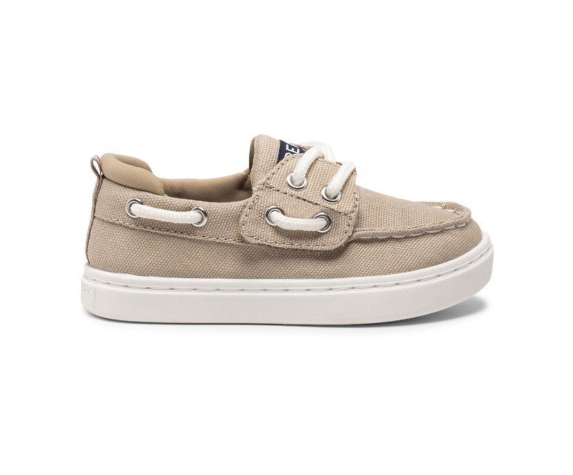 Sea Ketch Junior Washable Boat Shoe, Kahki, dynamic