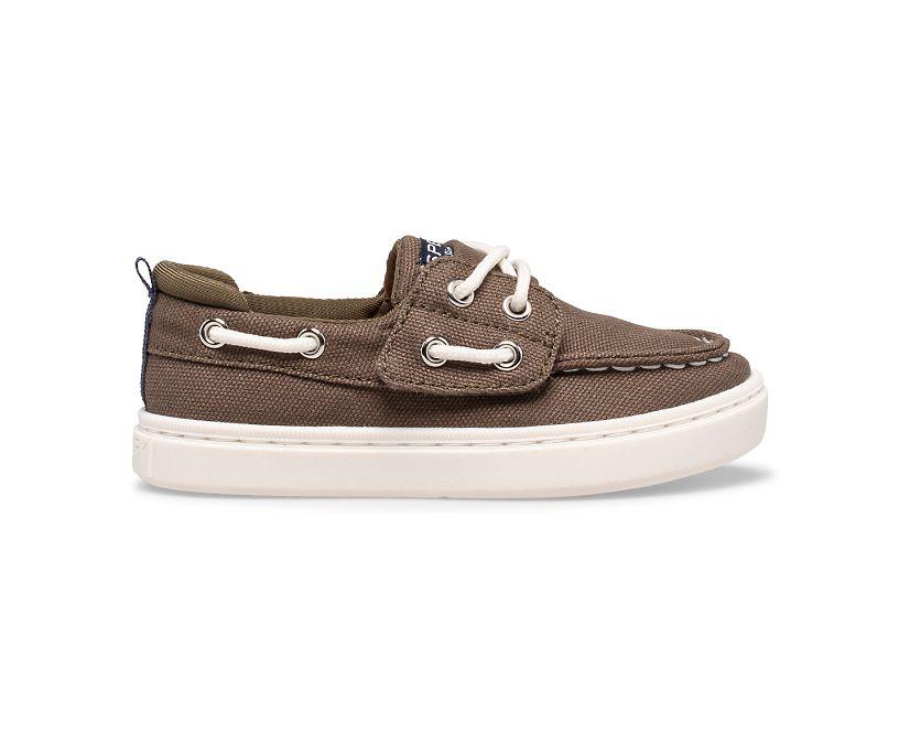 Sea Ketch Junior Washable Boat Shoe, Olive, dynamic