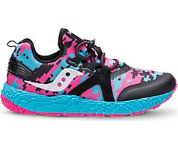 Voxel 9000 Sneaker, Pink/Black/Turq, dynamic