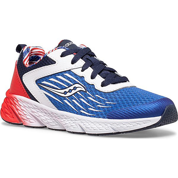 Wind Lace Sneaker, Red | White | Blue, dynamic