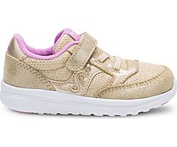 Baby Jazz Lite Sneaker, Gold Sparkle, dynamic