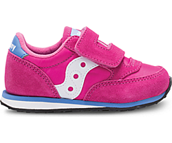 Baby Jazz Hook & Loop Sneaker, Magenta, dynamic