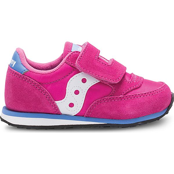 Baby Jazz Hook & Loop Sneaker, Magenta, dynamic