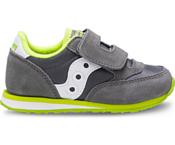 Baby Jazz Hook & Loop Sneaker, Grey/White, dynamic