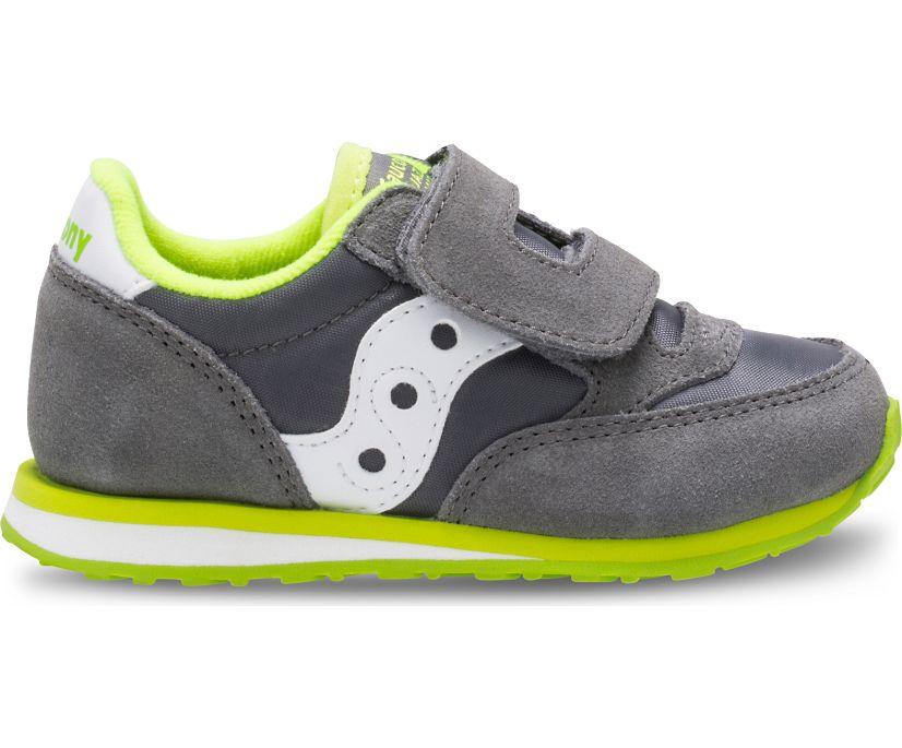 Baby Jazz Hook & Loop Sneaker, Grey/White, dynamic