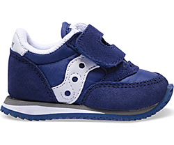 Baby Jazz Hook & Loop Sneaker, Navy / White, dynamic