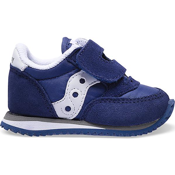Baby Jazz Hook & Loop Sneaker, Navy / White, dynamic