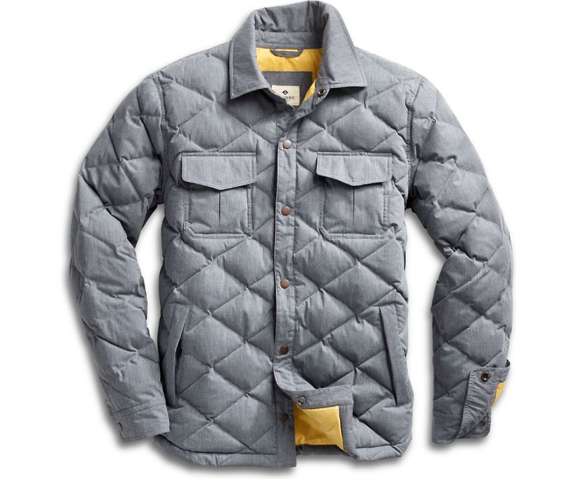 Quilted Shirt Jacket w/ Thinsulate™, Grey, dynamic