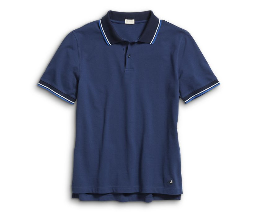 Pique Polo, Navy, dynamic