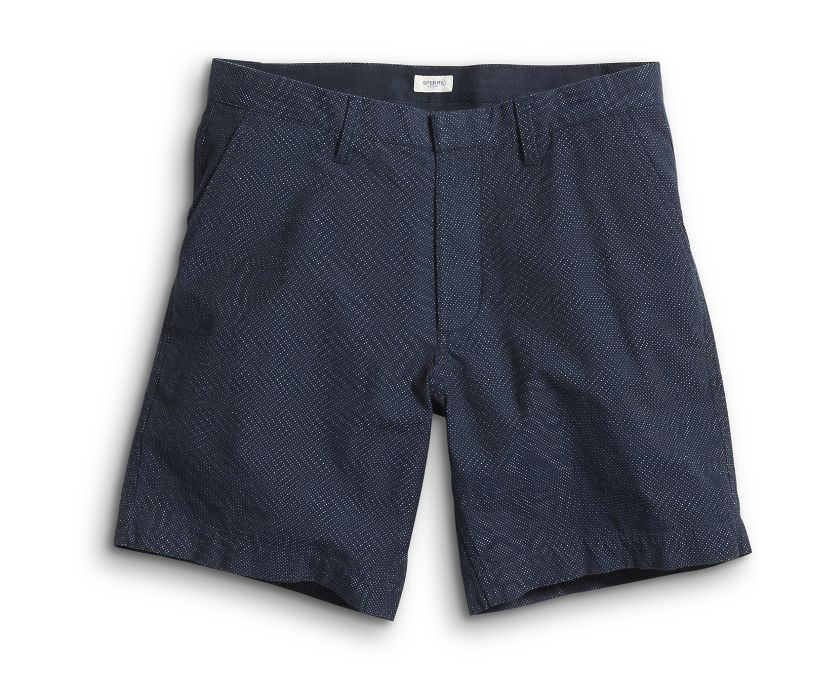 Printed Micro Dot Walking Short, Navy, dynamic