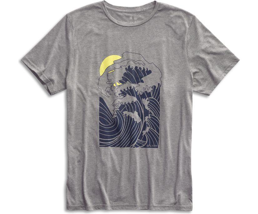 Japanese Wave T-Shirt, Grey, dynamic