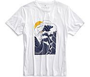 Japanese Wave T-Shirt, White, dynamic