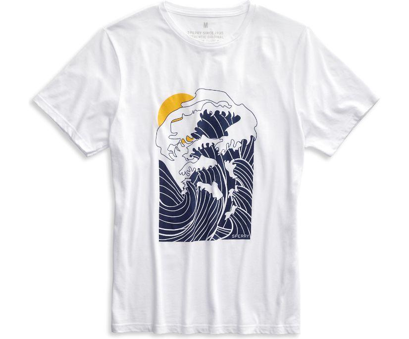 Japanese Wave T-Shirt, White, dynamic