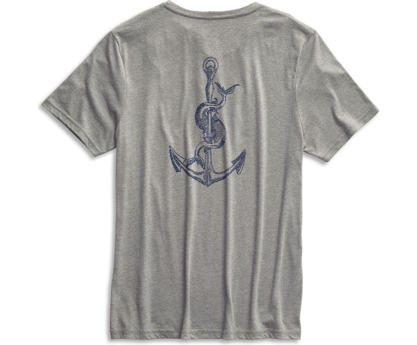 Sperry Anchor T-Shirt, Grey/Navy, dynamic