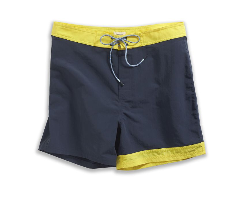 Endless Summer Boardshort, Navy/Yellow, dynamic