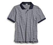 Pique Polo, Navy Stripe, dynamic