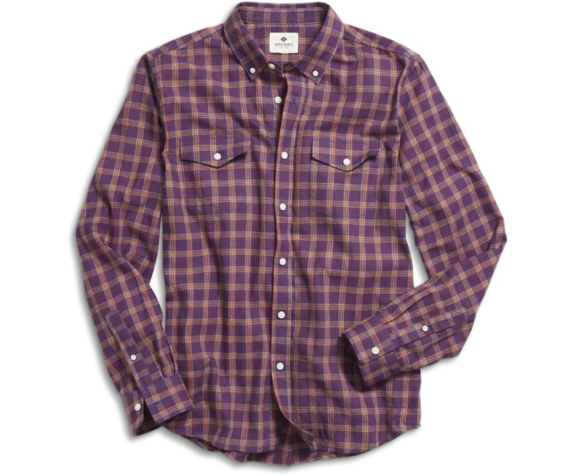 New London Button Down Shirt, Red, dynamic